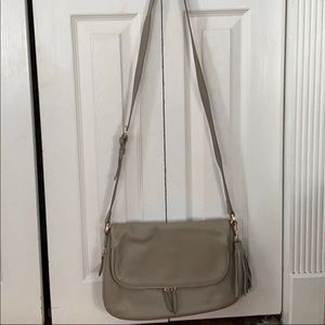 Nordstrom Kara Leather Expandable Crossbody - Grey